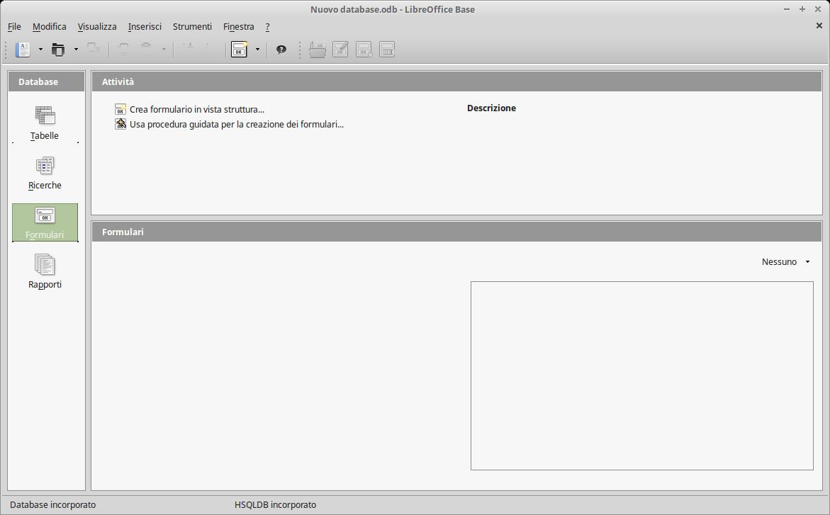 Base, il programma con cui gestire i database.