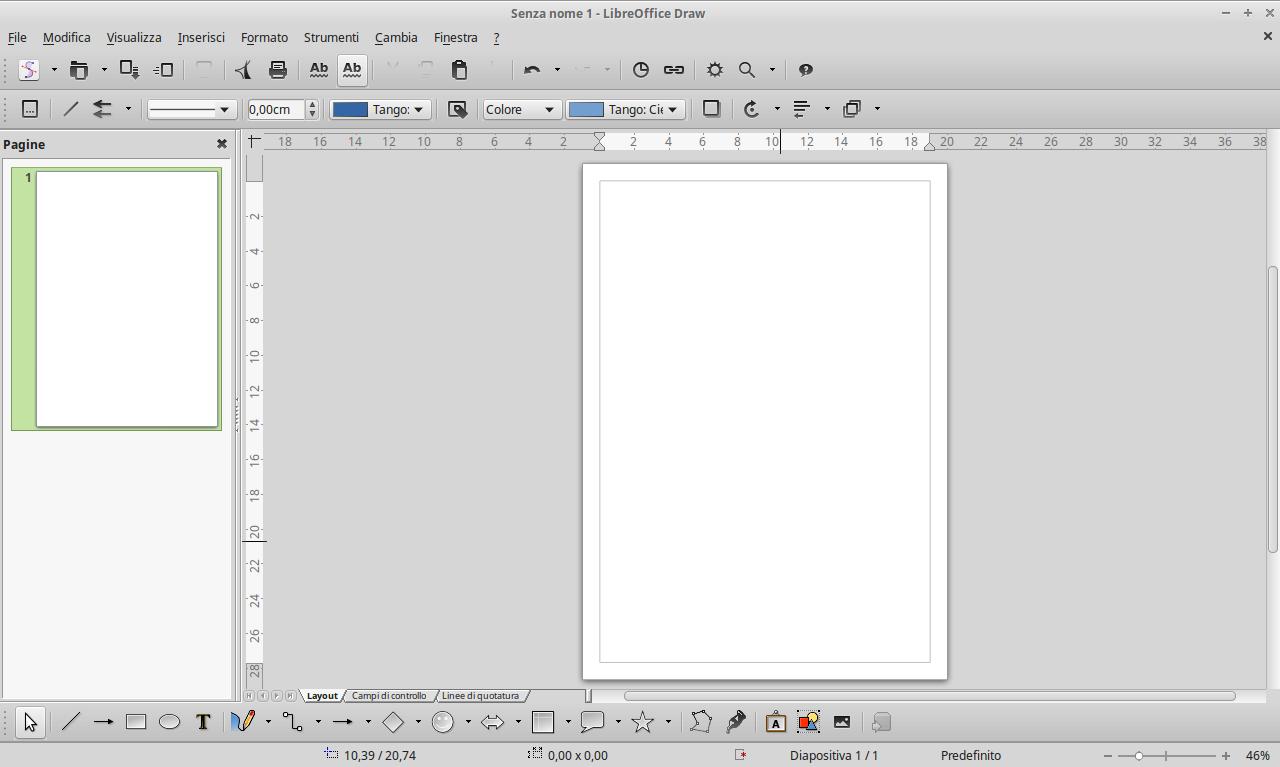 Ecco Draw, programma compreso nella suite open source LibreOffice.