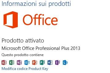 Microsoft Office con una licenza attiva.