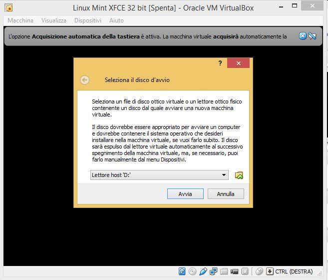 Selezioniamo come vogliamo installare il sistema operativo.