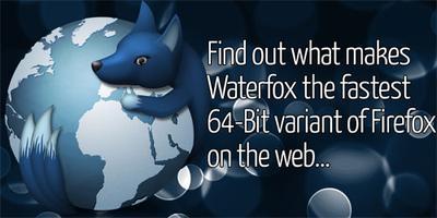 Il browser web Waterfox, versione non ufficale a 64 bit di Firefox.
