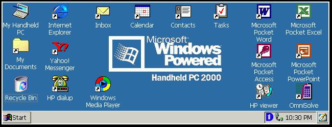 Microsoft Windows Handled PC 2000, sistema operativo mobile rilasciato durante il 2000.