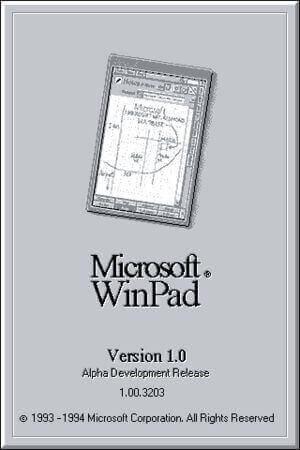 Microsoft WinPad, il primo progetto della Microsoft per un sistema operativo mobile.