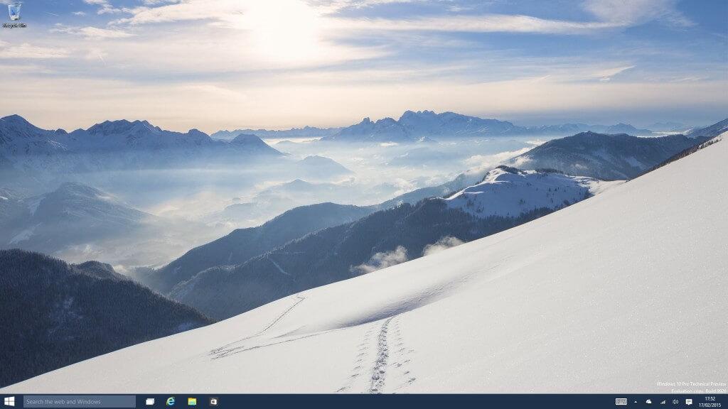 Windows 10 Techincal Preview Desktop