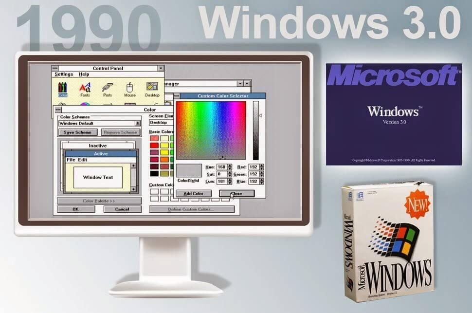 Ecco come si presentava il sistema operativo della Microsoft lanciato nel 1990, Windows 3.0.