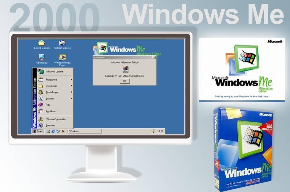Una panoramica sul sistema operativo Windows ME (Millennium Edition), lanciato dalla Microsoft nel 2000 per il mercato consumer.