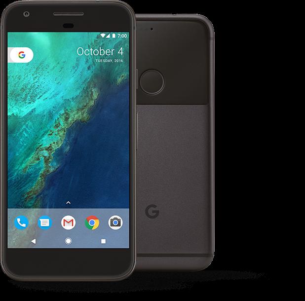 Google Pixel nella colorazione Quite Black
