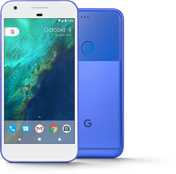 Google Pixel nella colorazione Really Blue