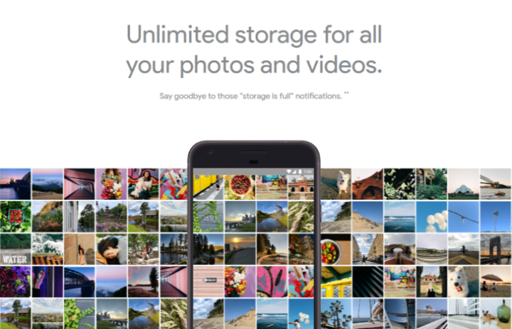 Con Google Pixel hai tutto lo spazio che vuoi per archiviare foto e video!
