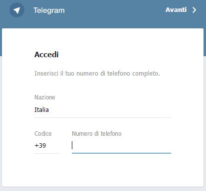 telegram-accesso