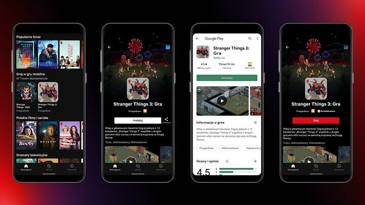 Alcuni dei giochi attualmente disponibili sulla piattaforma, ovvero Stranger Things: The Game e Stranger Things 3: The Game